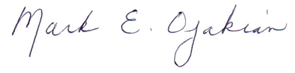 Mark E. Ojakian Signature